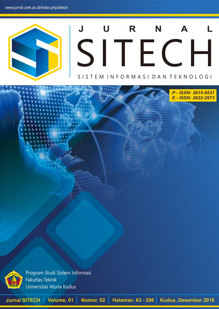 JURNAL SITECH VOLUME 1 NO 2 TAHUN 2018