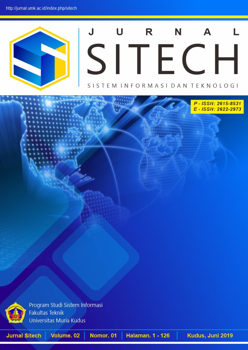 JURNAL SITECH VOLUME 2 NO 1 TAHUN 2019